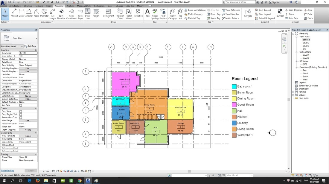 Bim project 2b architecture life since 2015 6 right click on the level duplicate view duplicate with detailing to copy the whole floor plan together with the details for furniture layout purpose ccuart Choice Image